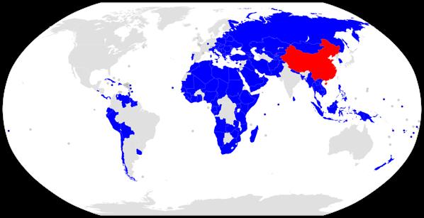 Belt and Road Initiative participant map